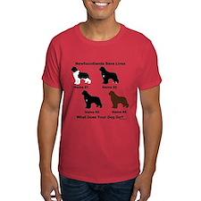 4 Newfoundlands T-Shirt