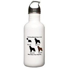4 Newfoundlands Water Bottle