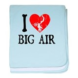 I Love Big Air - Moto baby blanket
