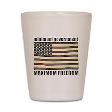 Minimum Government, Maximum F Shot Glass