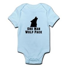 One Man Wolf Pack Infant Bodysuit