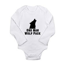 One Man Wolf Pack Long Sleeve Infant Bodysuit
