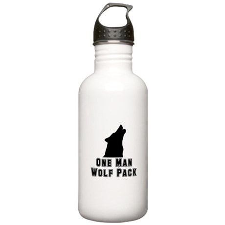 One Man Wolf Pack Stainless Water Bottle 1.0L