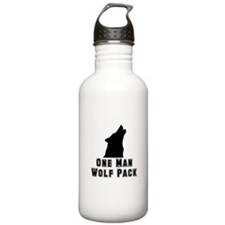 One Man Wolf Pack Water Bottle