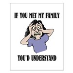 If You Met My Family Small Poster