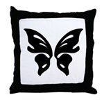 Butterfly Madness Throw Pillow