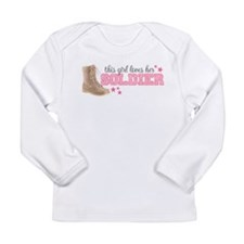 Cute I love my soldier Long Sleeve Infant T-Shirt