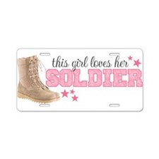 Unique I love my soldier Aluminum License Plate