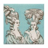 18th Century Fashion Tile Coaster