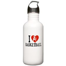 I Heart Basketball - Girl Water Bottle