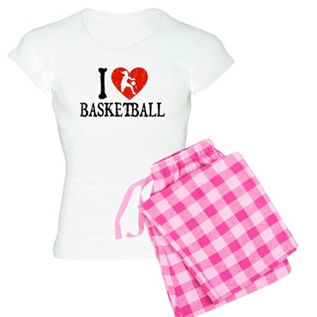 I Heart Basketball - Girl Women's Light Pajamas