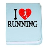 I Heart Running - Girl baby blanket