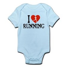 I Heart Running - Girl Infant Bodysuit
