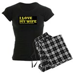 Funny my wife football Women's Dark Pajamas