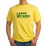 Funny my wife football Yellow T-Shirt