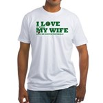 Funny my wife football Fitted T-Shirt
