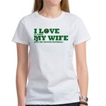 Funny my wife football Women's T-Shirt