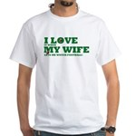 Funny my wife football White T-Shirt