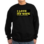Funny my wife football Sweatshirt (dark)