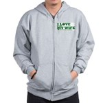 Funny my wife football Zip Hoodie