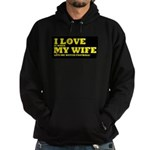 Funny my wife football Hoodie (dark)