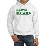Funny my wife football Hooded Sweatshirt