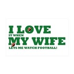 Funny my wife football 38.5 x 24.5 Wall Peel
