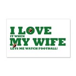 Funny my wife football 22x14 Wall Peel