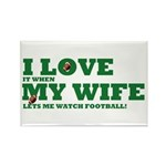 Funny my wife football Rectangle Magnet (10 pack)