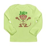 Little Monkey Jake Long Sleeve Infant T-Shirt