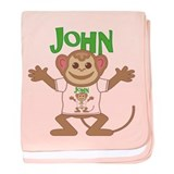 Little Monkey John baby blanket