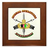 SOF - Special Operations - Afghanistan Framed Tile