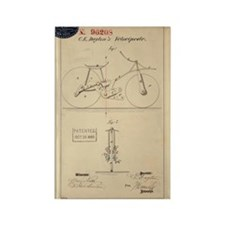 Velocipede Patent 1869 Rectangle Magnet