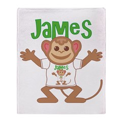 Little Monkey James Throw Blanket