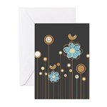 Trendy Floral Decor Greeting Cards (Pk of 10)
