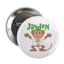 "Little Monkey Jayden 2.25"" Button"