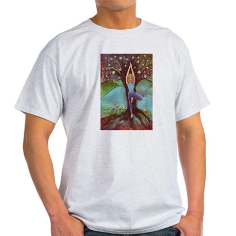 Vriksasana, the Tree Pose Light T-Shirt