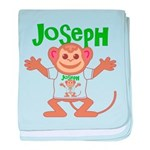 Little Monkey Joseph baby blanket