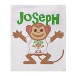 Little Monkey Joseph Throw Blanket
