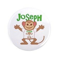 "Little Monkey Joseph 3.5"" Button"