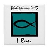 Christian Runner's Tile Coaster
