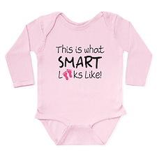 What Smart Looks Like Girls Long Sleeve Infant Bod