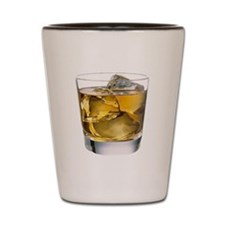 Whiskey on the Rocks Shot Glass