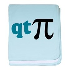 Math Humor Cute T Pi baby blanket