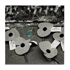 ANZAC Poppies & Medal Tile Coaster