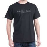 Waveforms T-shirt (black)