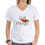 Women's Got Wings? V-Neck T-Shirt