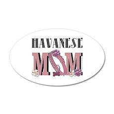 Havanese MOM 38.5 x 24.5 Oval Wall Peel