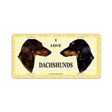Miniature Dachshund Aluminum License Plate