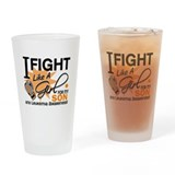 Fight Like a Girl Leukemia Drinking Glass